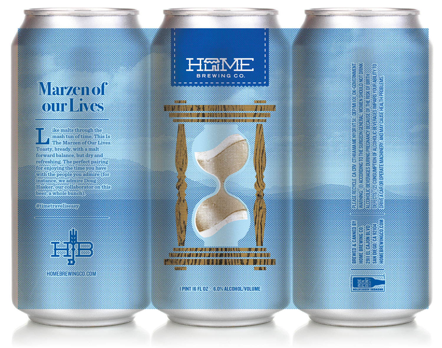 short-run digitally printed labels for Home Brewing Co.'s beers