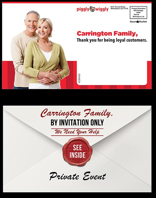 Piggly Wiggly Direct Mail Envelopes
