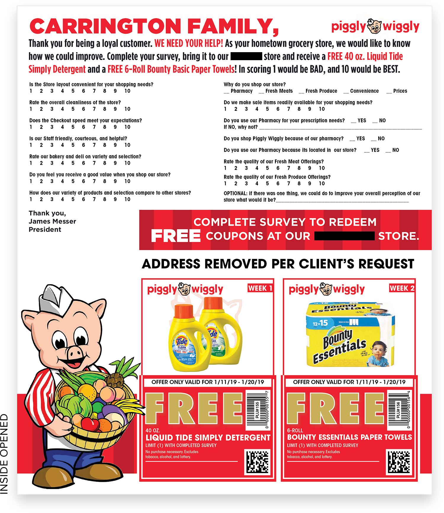 Piggly Wiggly Survey