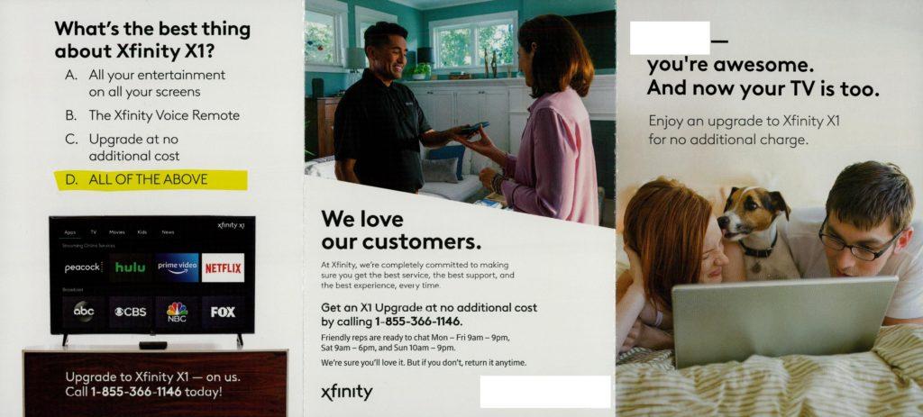 Xfinity X1 Comcast offer