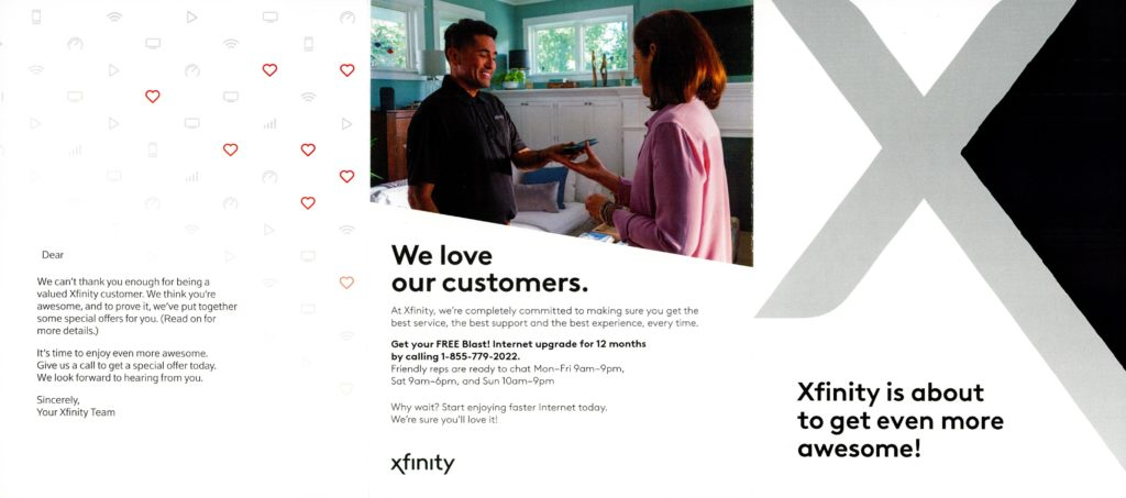 Comcast Loyalty Mailer 2020