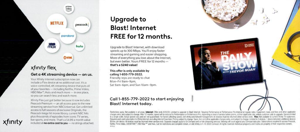 Blast Internet Upgrade - Comcast - 3