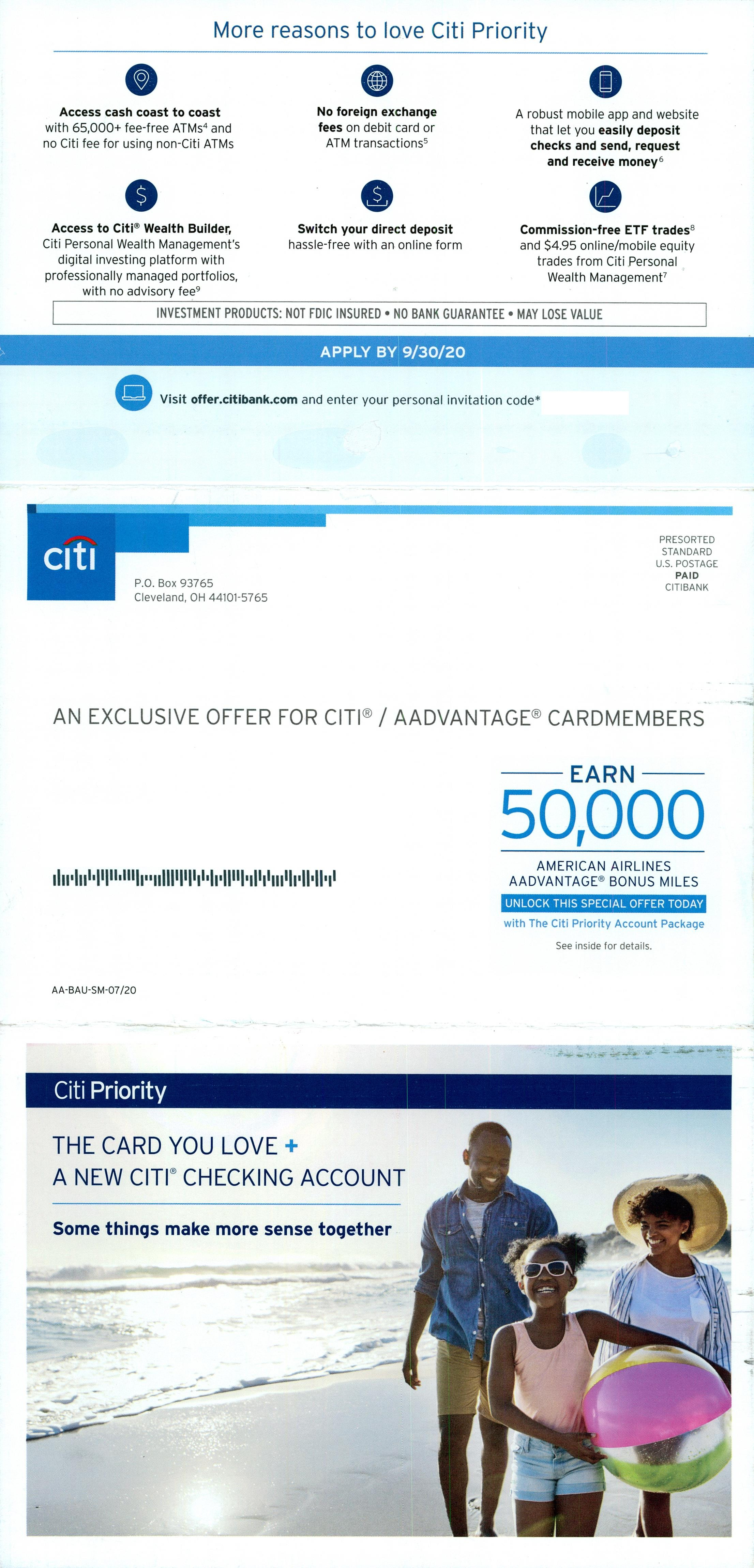 Citibank 2 direct mail